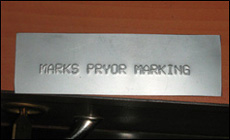 Marking Samples, Automobile Marking Samples, Industry Marked Plates